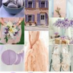 Purple and Peach wedding color palette