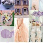 Purple and Peach wedding color palette