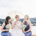 A romantic wedding ceremony on the italian lakes