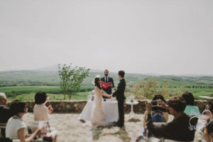 val d orcia wedding ceremony italy