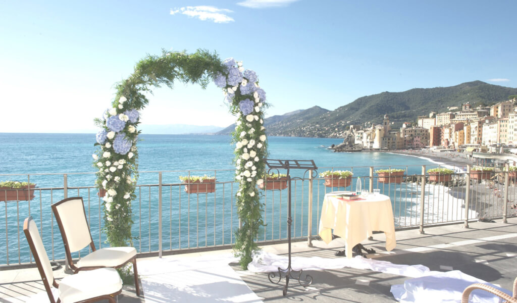 italian riviera sea view wedding