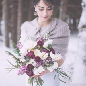 snow wedding Italy alps