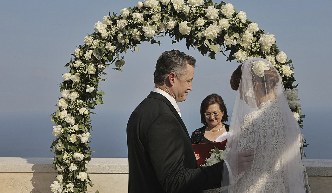 Amalfi Coast Outdoor Wedding Ceremony