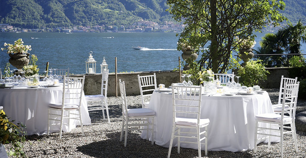 lake como private villa wedding