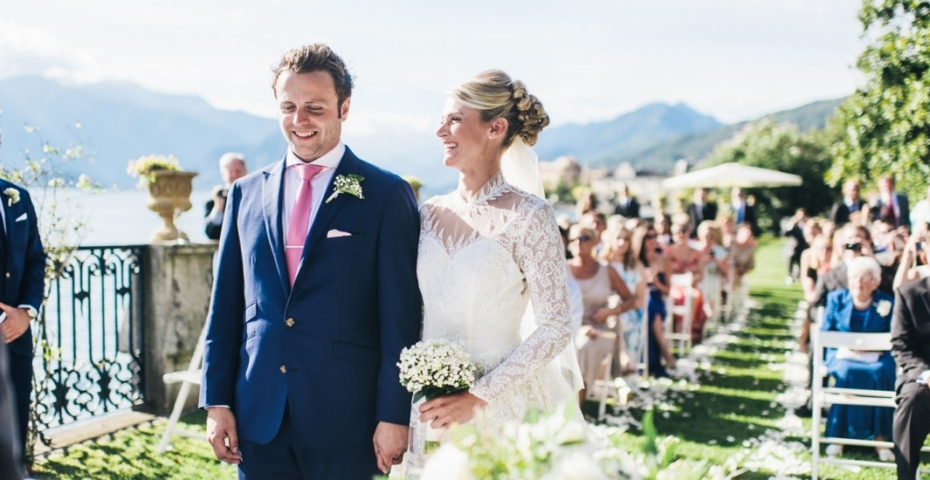 civil wedding on the garden italian lakes villa