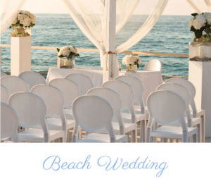 Beach wedding south of Italy