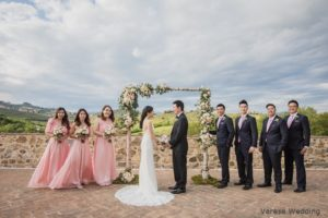 bridal party tuscany wedding