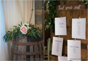 """barrell and flowers wedding in tuscany"""