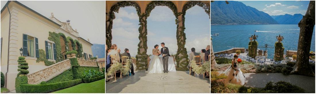 villa del balbaniello lake como wedding ceremony