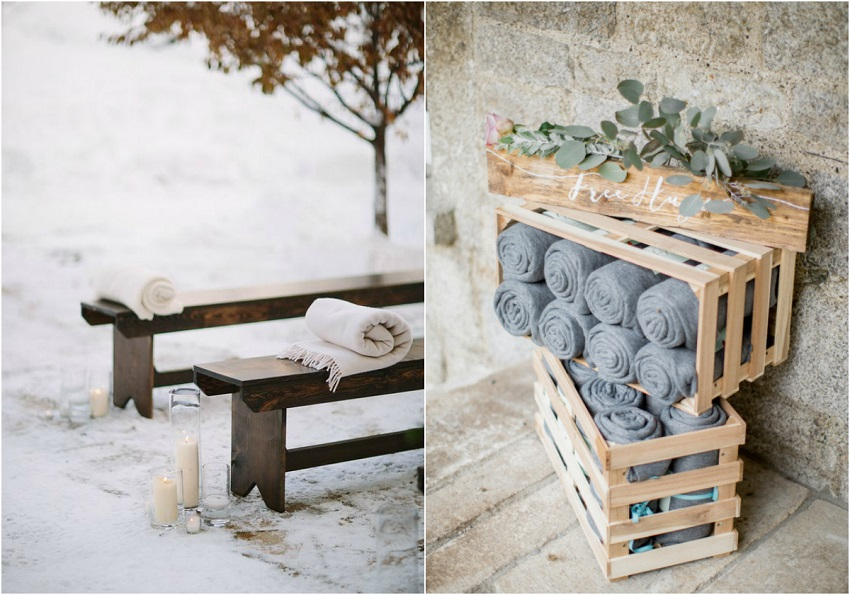 winter_wedding_ideas_blankets and pashminas