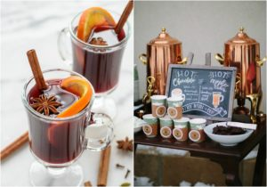 winter wedding ideas hot chocolate bar