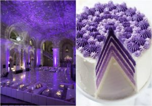 ULTRA VIOLET WEDDING CAKE