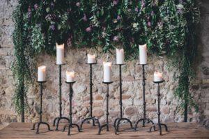 cascading flowers wedding altar