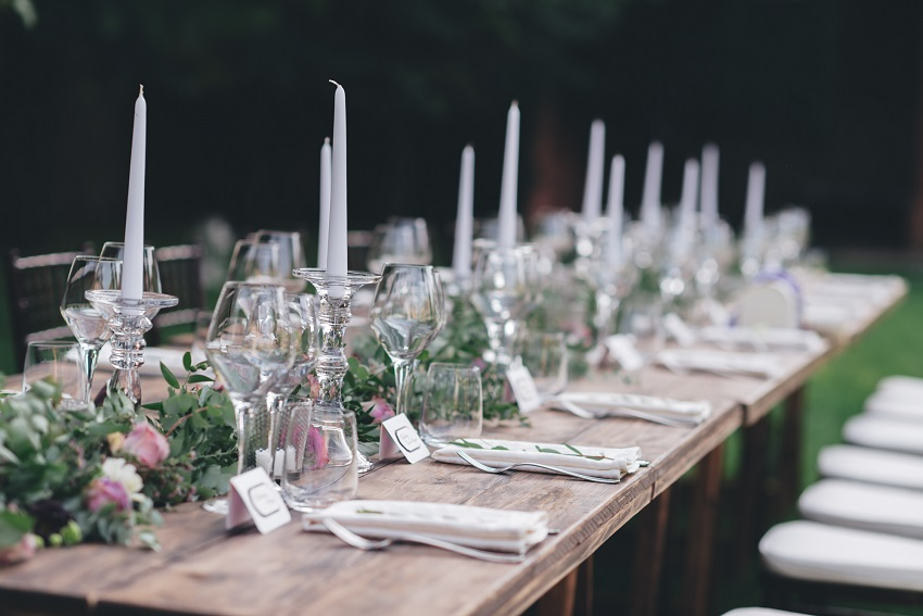 country chic table wedding in italy