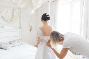 getting ready italian wedding