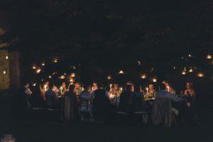 talian lakes wedding dinner under the sky