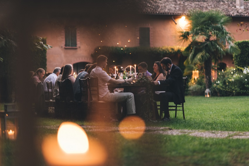 outdoor wedding reception Italy