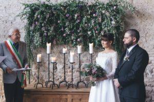 private villa civil wedding ceremony Italy