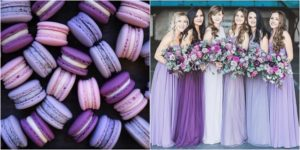ultra violet and mix of purple bridesmaids dresses
