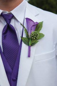 ultra violet buttonhole