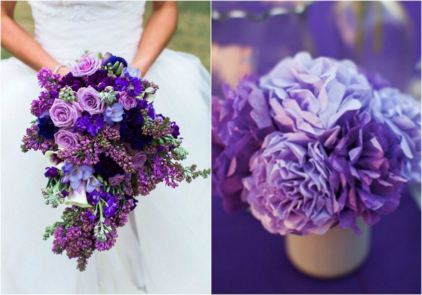 ultra violet wedding bouquet
