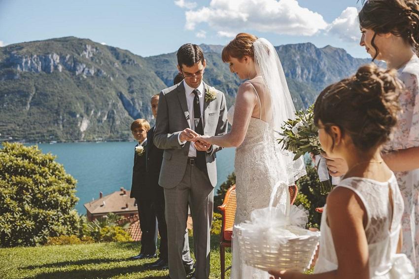Hochzeit in der italienischen Seen