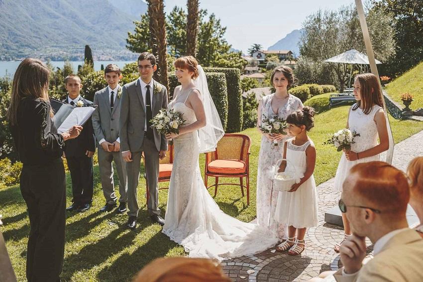 civil wedding ceremony lake como