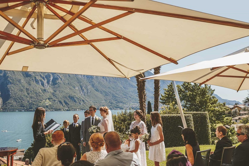 terrace lake view wedding