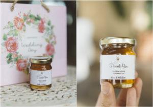 organic honey wedding favor