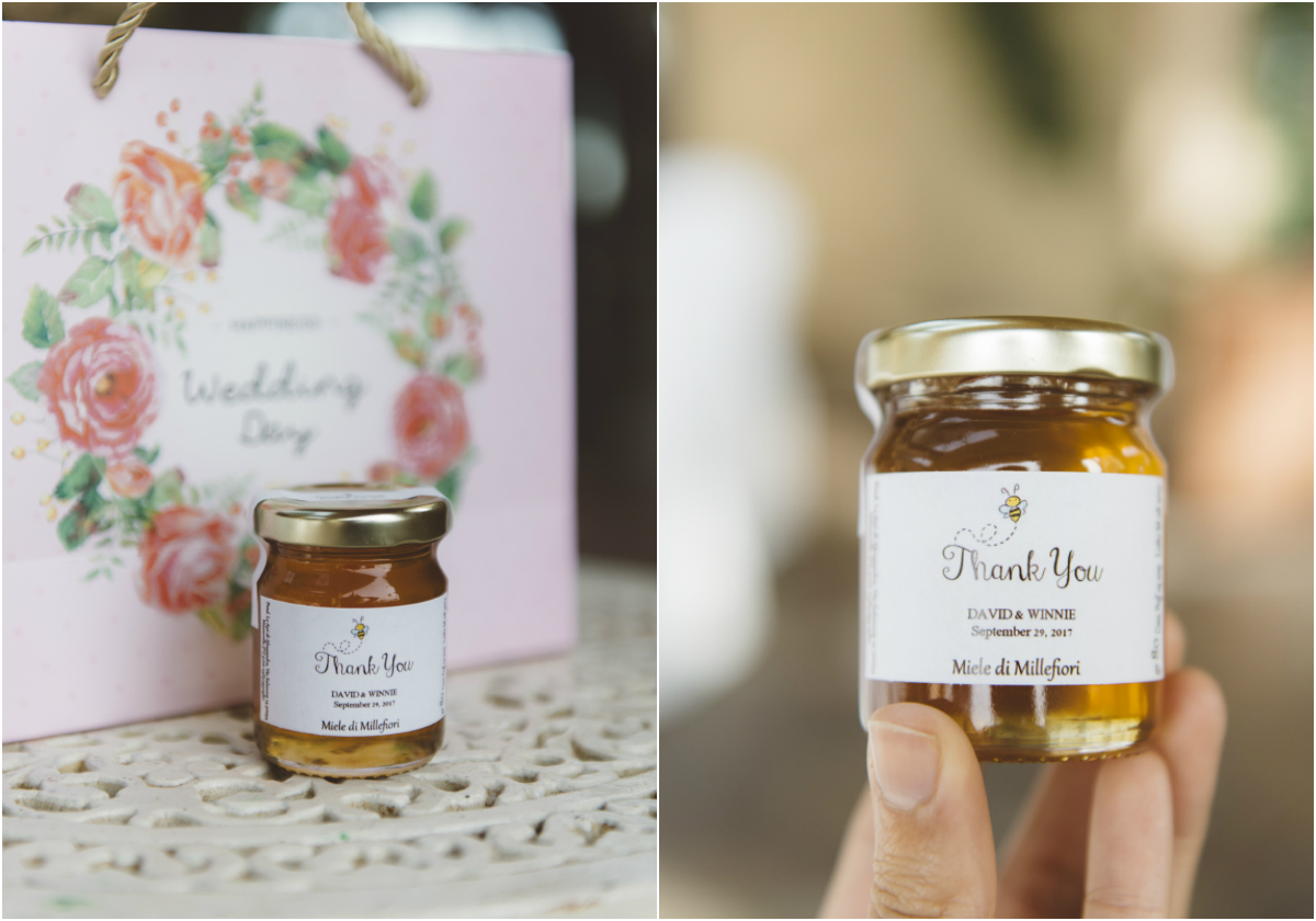 organic honey wedding favor