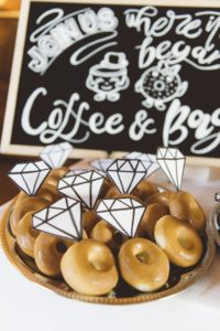 wedding welcome coffee and donuts