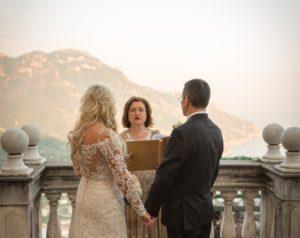 Sunset Wedding Ceremony on the Amalfi Coast