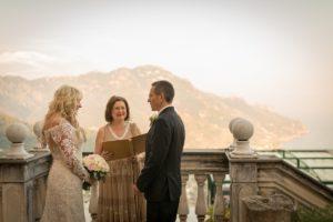 SEA VIEW WEDDING CEREMONY AMALFI COAST