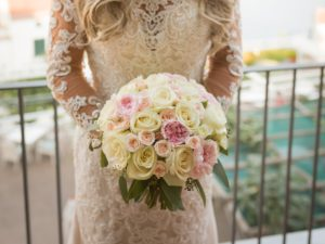ROSES AND PEONIES WEDDING BOUQUET