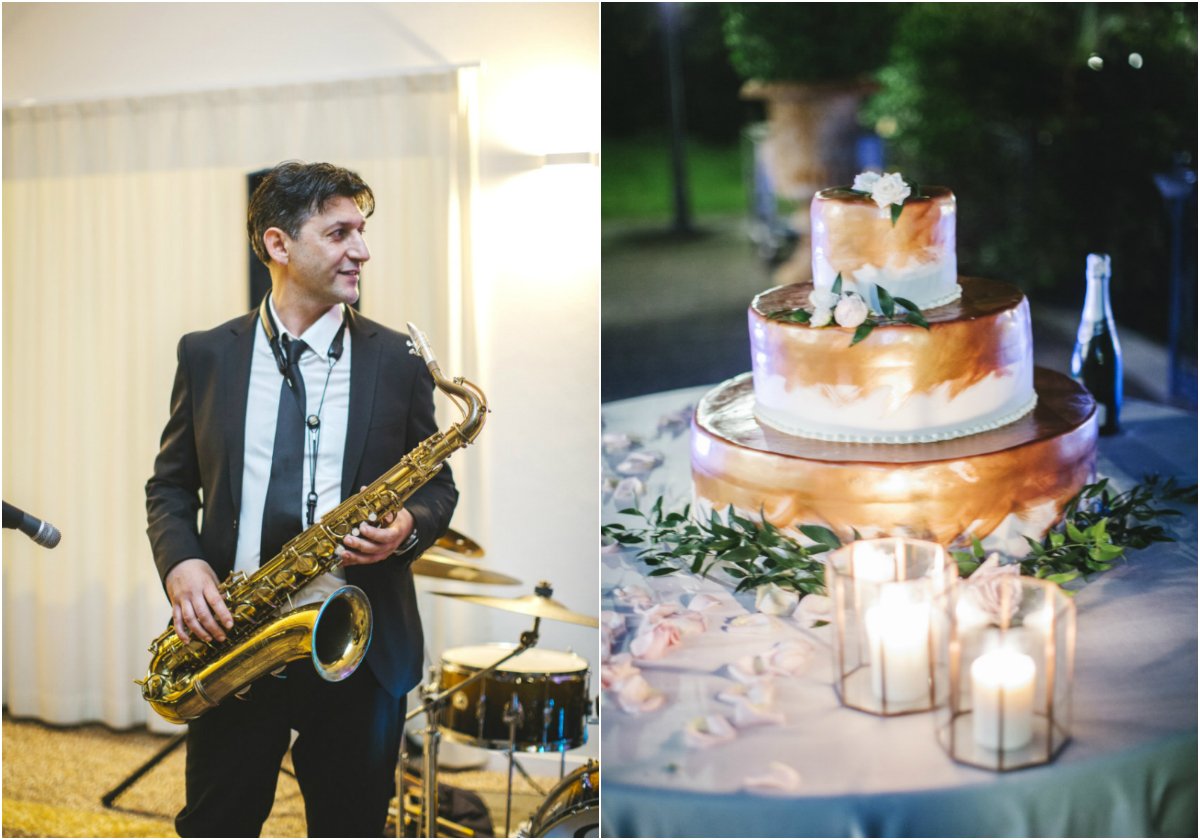 copper_painted_wedding_cake